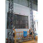 10m-ko aluminiozko sokarik zintzilikatutako plataforma zlp1000 fase bakarrekoa 2 * 2.2kw