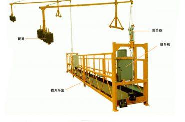 fabrika-salmenta kalitate handiko altzairu elektrikoa plataforma esekita zuzeneko fabrikatzailearekin