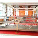 zlp630 aluminiozko esekitako plataforma (ce iso gost) / goi mailako leiho garbiketa ekipoak / aldi baterako gondola / cradle / swing etapa beroa