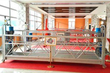 ZLP630 aluminiozko esekitako plataforma (CE ISO GOST) / goi mailako leiho garbiketa ekipoak / aldi baterako góndola / cradle / swing etapa beroa